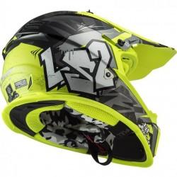 LS2 MX437 Fast EVO Crusher Black/Yellow