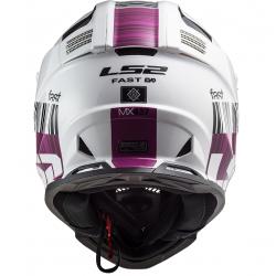 LS2 MX437 Fast EVO XCODE Gloss White/Violet